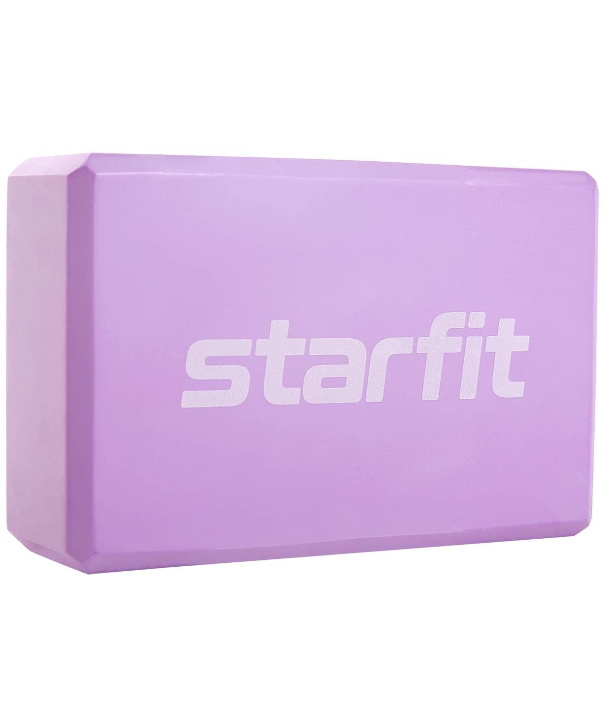 Блок для йоги Core YB-200 EVA, фиолетовый пастель