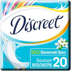 Прокладки ежедневные Deo Spring Breeze Multiform 20шт DISCREET