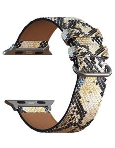 Кожаный ремешок для Apple Watch 38/40 mm LYAMBDA SERPENS LWA-28-40-WTP Desert snake