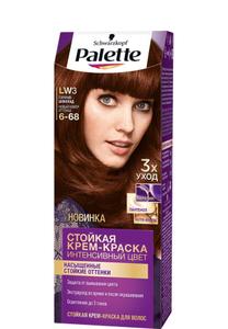 Краска для волос №LW3 (6-68) горячий шоколад Palette