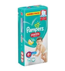 Подгузники-трусики Pants Maxi Plus (9-15 кг) Упаковка 50 PAMPERS