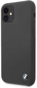 Чехол BMW для iPhone 11 Signature Liquid silicone Hard Space grey