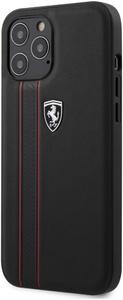 Чехол накладка Ferrari для Apple iPhone 12 Pro Max черный