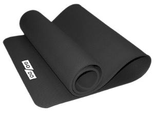 Коврик для йоги и фитнеса. Цвет: чёрный: BLACK К6010
