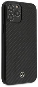 Чехол накладка Mercedes для Apple iPhone 12 Pro Max черный