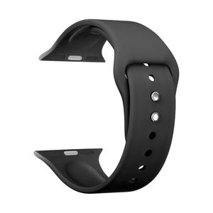 Силиконовый ремешок для Apple Watch 42/44 mm LYAMBDA ALTAIR DS-APS08-44-BK Black