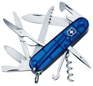 Нож перочинный Victorinox Huntsman (1.3713.T2) 91мм 15функций синий полупрозрачный карт.коробка