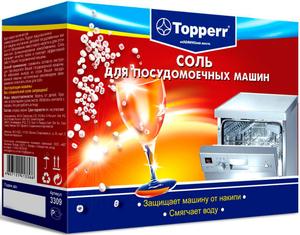 3309 Topperr Соль для ПММ гранулированная 1,5 кг  (Великобритания)