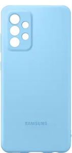Чехол (клип-кейс) Samsung для Samsung Galaxy A52 Silicone Cover голубой (EF-PA525TLEGRU)