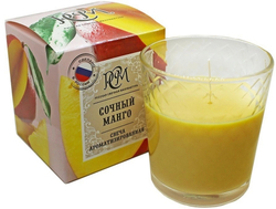 """Свеча ароматическая в стакане """"Сочный манго"""", время горения 30 ч"""