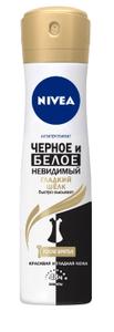 Дезодорант-спрей Невидимая защита для черного и белого Гладкий шёлк 150мл Nivea