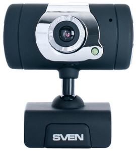 SVEN < IC-525 Black-Silver> Web-Camera ((1280x1024, USB2.0, микрофон)