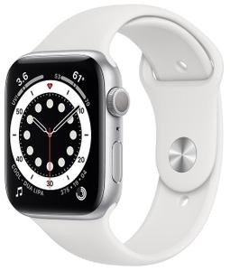 Смарт-часы Apple Watch Series 6 44mm белый (смена ПО в АСЦ)