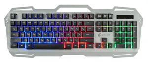 Клавиатура проводная Oklick 747G серый