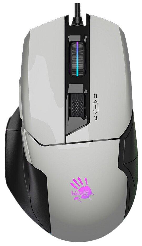 Мышь проводная A4Tech Bloody W70 Max белый