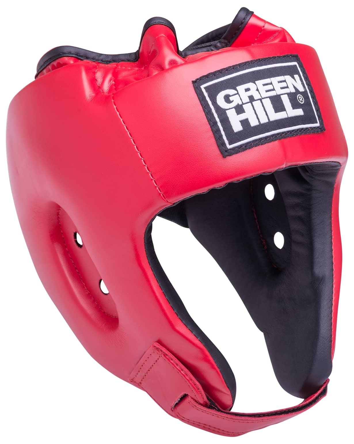 Шлем открытый Alfa HGA-4014, кожзам, красный
