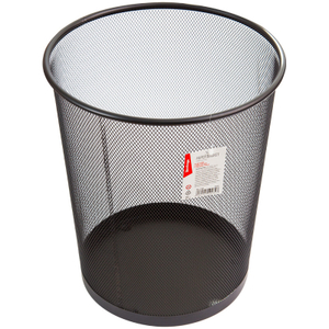 """Корзина для бумаг Berlingo """"Steel&Style"""", 20л, сетчатая, металлическая, черная"""