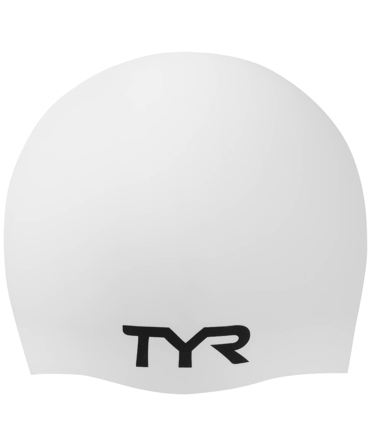 Шапочка для плавания Wrinkle Free Silicone Cap, силикон, LCS/100, белый