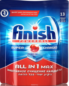 Таблетки для посудомоечных машин All in1 Max 13 шт Finish