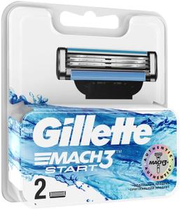 Сменные кассеты для бритья 2шт MACH3 Start GILLETTE