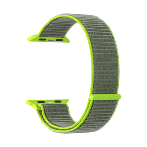 Нейлоновый ремешок для Apple Watch 38/40 mm LYAMBDA VEGA DS-GN-02-40-2 Gray-green