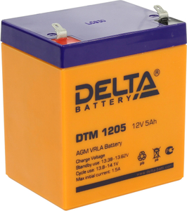 Аккумулятор Delta DTM 1205 (12V, 5Ah) для UPS