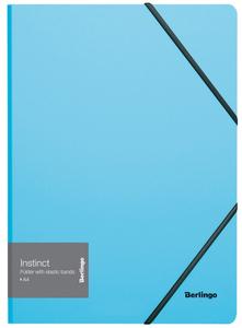 """Папка на резинке Berlingo """"Instinct"""" А4, 600мкм, аквамарин"""