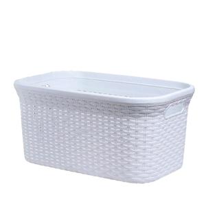 Корзина для глаженого белья Виолет «Ротанг», 32 л, 32×50×24 см, цвет белый