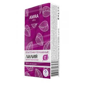 Платочки бумажные Лилия 10шт AMRA
