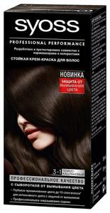 Крем-краска для волос Color 3/1 Тёмно-каштановый Syoss