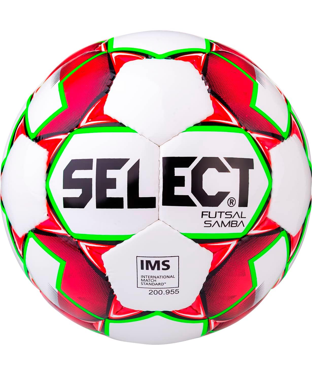 Мяч футзальный Futsal Samba IMS 852618, №4, белый/красный/зеленый