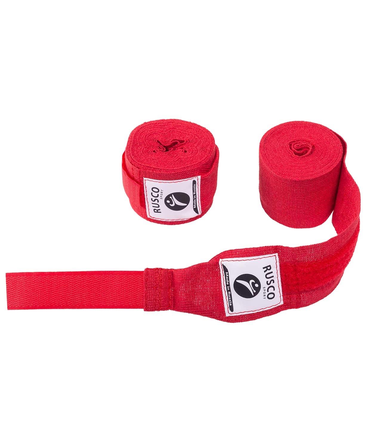 Бинт боксерский, 4,5 м, хлопок, красный