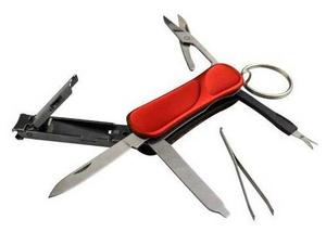 Нож перочинный AceCamp 2502 57мм 6функц. красный