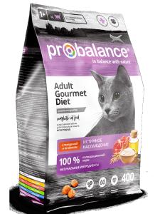 Сухой корм ProBalance Gourmet Diet для кошек с говядиной и ягненком 400 гр. ( 8 шт. в уп.)
