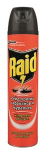 Аэрозоль от муравьев и тараканов Raid, 300мл