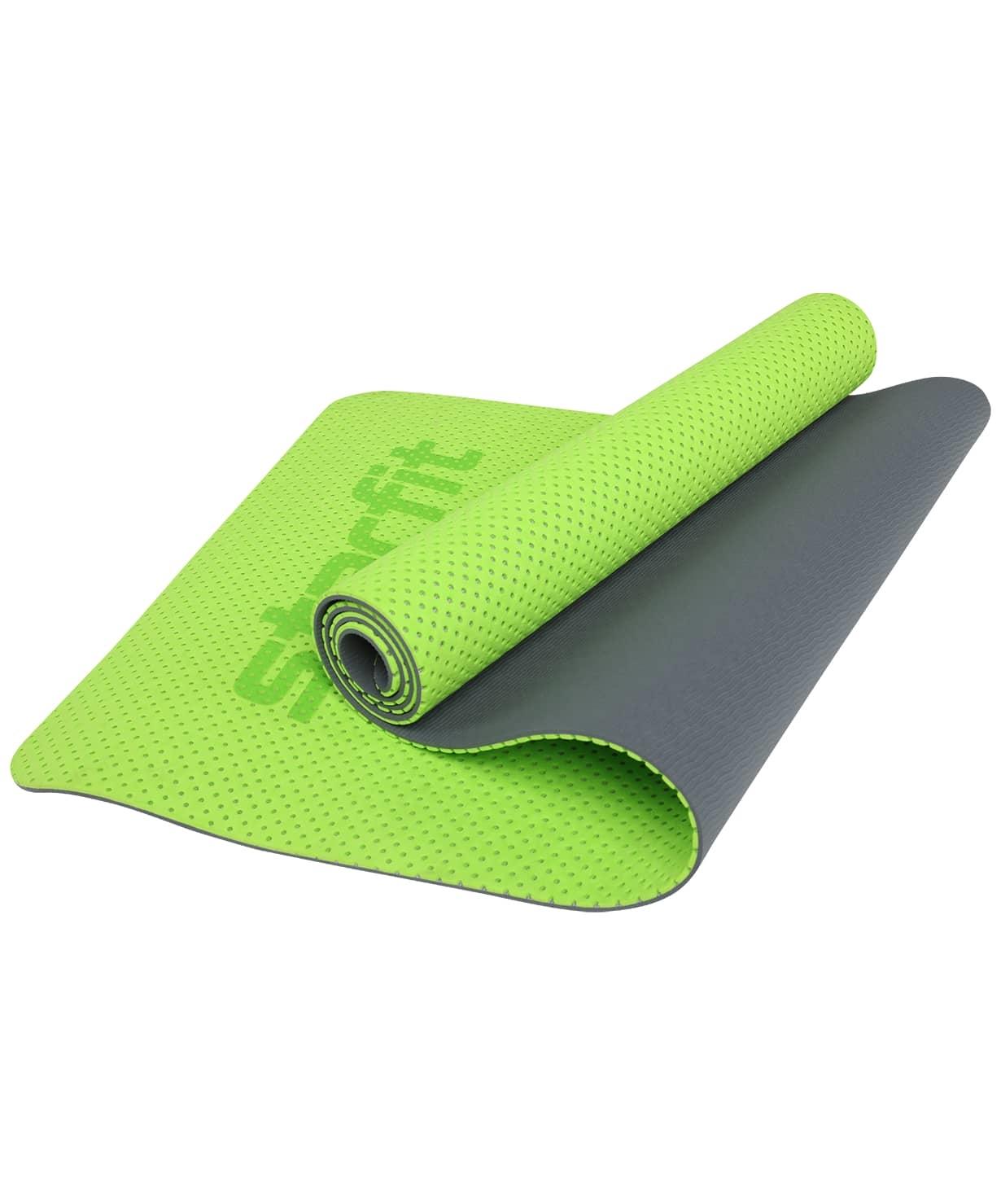 Коврик для фитнеса STARFIT FM-202 TPE 173x61x0,7 см, перфорированный, ярко-зеленый