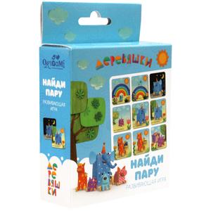 """Игра настольная Origami """"Деревяшки. Найди пару"""", картонная коробка"""