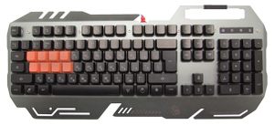 Клавиатура проводная A4Tech Bloody B418 серый