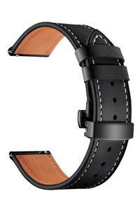 Универсальный кожаный ремешок для часов 20 mm LYAMBDA ANNET MANCINI LWA-S05-20-BK Black