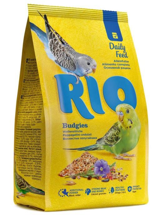 """RIO / Корм для волнистых попугайчиков """"основной рацион"""" 1 кг. ( 4 шт. в уп.)"""