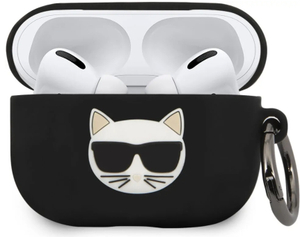 Чехол Lagerfeld для Airpods Pro Choupette Silicone case with ring Black