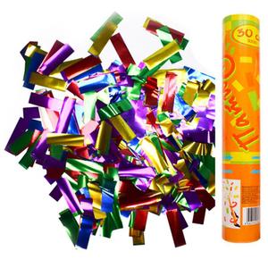 Хлопушка пневматическая ПатиБум, 30см, в пластиковой тубе, фольгированное конфетти
