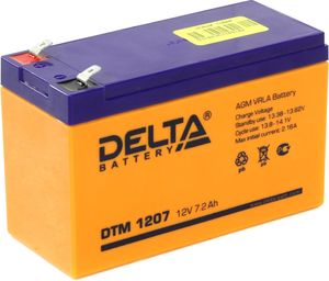 Аккумулятор Delta DTM 1207 (12V, 7.2Ah) для UPS