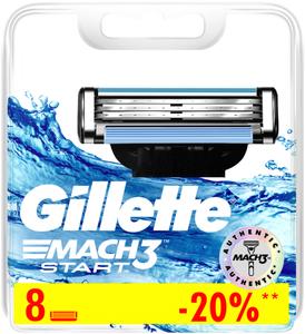 Сменные кассеты для бритья 8шт MACH3 Start GILLETTE