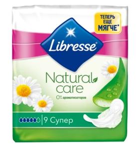 Прокладки гигиенические Natural Care ultra  Super 9шт Libresse