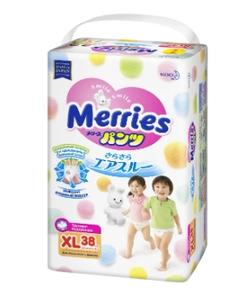 Трусики-подгузники XL 38 шт (12-22 кг) Merries