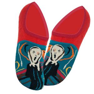 """Дизайнерские носки (invisible) серии полотна великих """"Крик"""" Эдвард Мунк (комплект из 2-х пар)"""