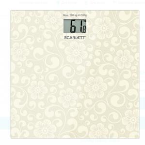 Весы напольные Scarlett SC-BS33E043 серебристый