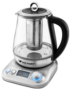 Чайник электрический Kitfort КТ-646 серебристый