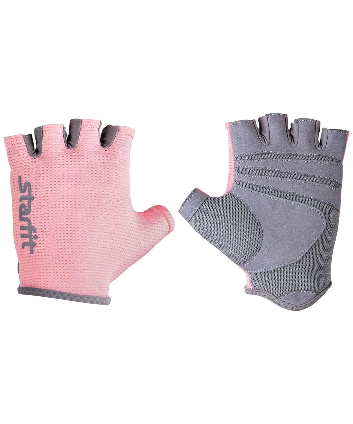 Перчатки для фитнеса STARFIT SU-127, розовый/серый (S)